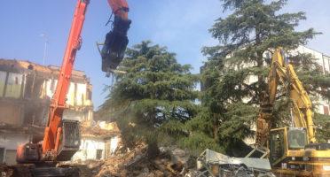 Demolizione Ospedale di Lugo - Padiglione Ostetricia-Ginecologia